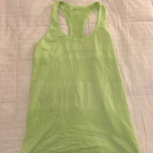 Lululemon workout top. Size 6. Lime